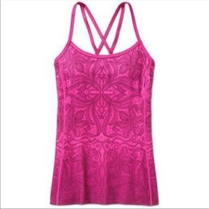 Athleta Harmonious Fuchsia Pink Ombre Yoga Tank